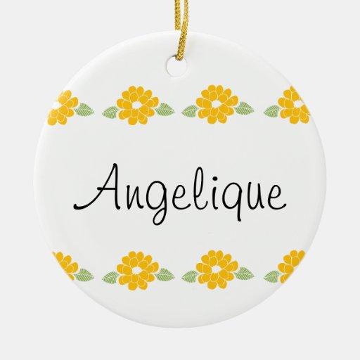 Flores amarillas conocidas de Angelique Adorno Redondo De Cerámica