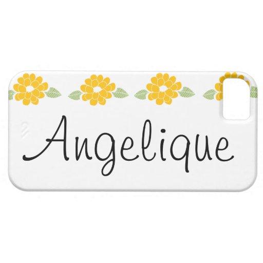 Flores amarillas conocidas de Angelique Funda Para iPhone 5 Barely There