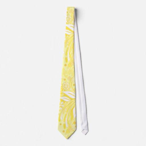 flores amarillas corbata personalizada