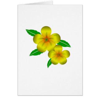 Flores amarillas de Damiana Tarjeta De Felicitación