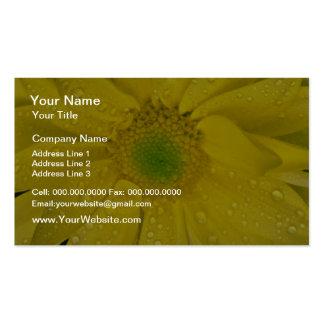 Flores amarillas de la flor tarjetas de negocios