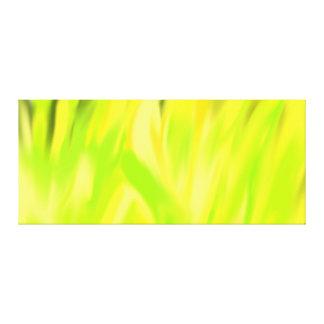 Flores amarillas de la lona Galería-lista de la Impresión De Lienzo