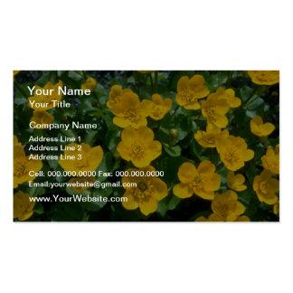 flores amarillas de la maravilla de pantano plantillas de tarjeta de negocio