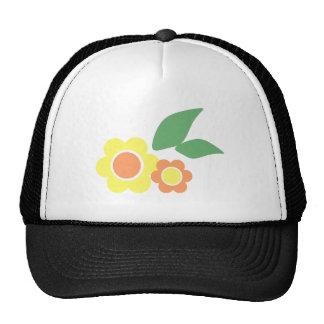 Flores amarillas de la margarita gorras