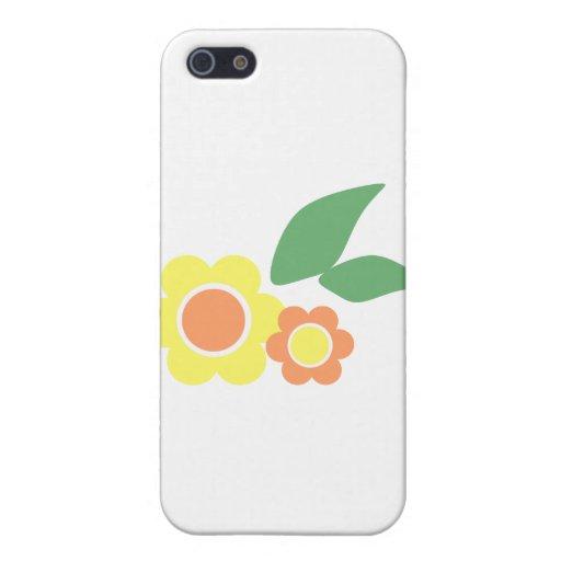 Flores amarillas de la margarita iPhone 5 carcasa