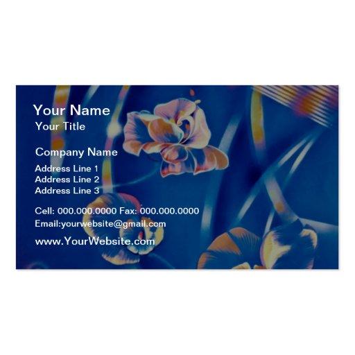 Flores amarillas de las emociones tarjeta de visita