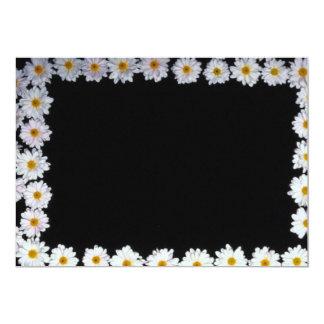 flores amarillas de las margaritas invitación 12,7 x 17,8 cm
