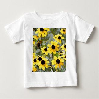 Flores amarillas de los Wildflowers de la sol Playera De Bebé