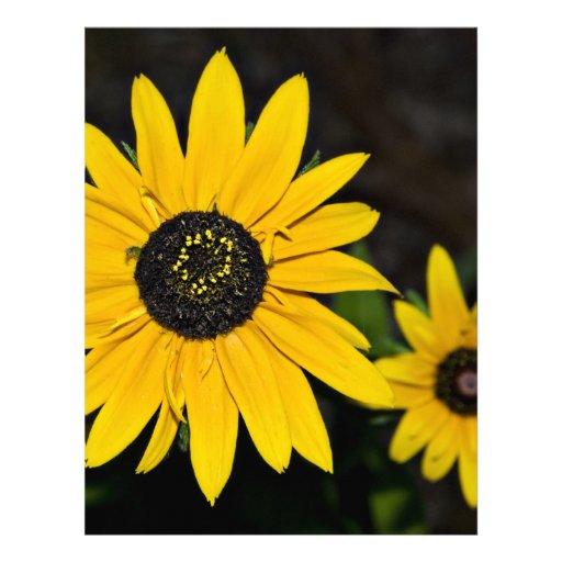 Flores amarillas del cono membretes personalizados
