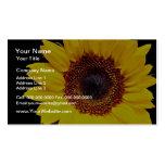 Flores amarillas del girasol tarjeta de negocio