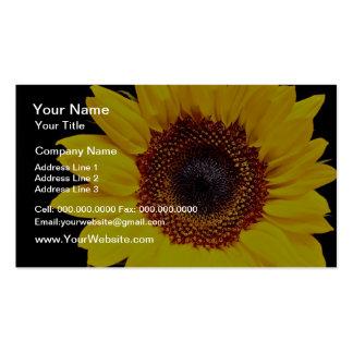 Flores amarillas del girasol tarjetas de visita