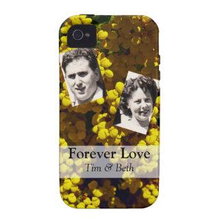 Flores amarillas del monedero vibe iPhone 4 funda