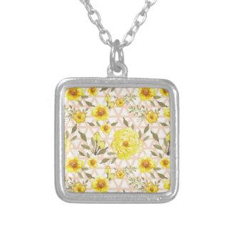 Flores amarillas del país en un enrejado pendiente personalizado