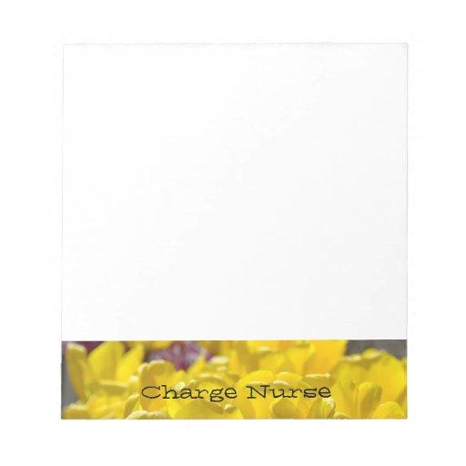 Flores amarillas del tulipán de las libretas de la libretas para notas