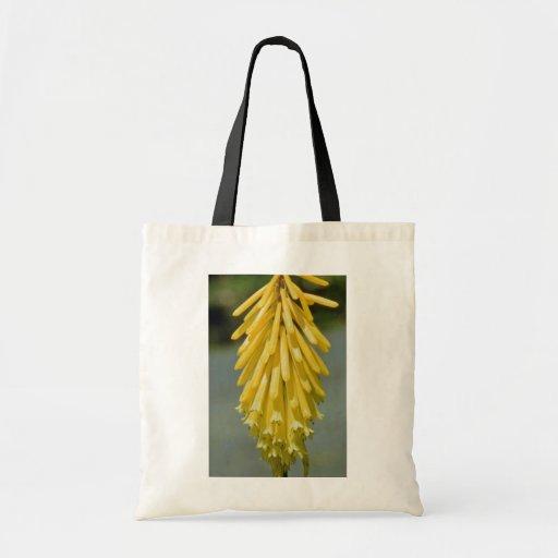 flores amarillas del uvaria del Kniphofia Bolsa Tela Barata