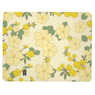 Flores amarillas del vintage cuadernos grapados