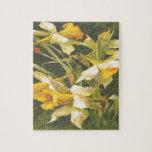 Flores amarillas del vintage puzzles