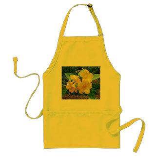 Flores amarillas delantal