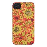Flores amarillas en la caja roja del iphone 4/4s d