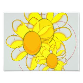 Flores amarillas enrrolladas fotografía