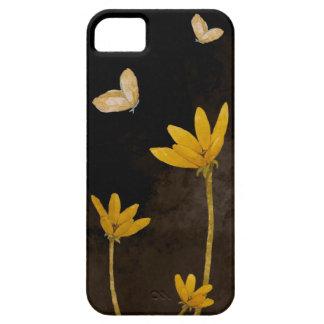 Flores amarillas iPhone 5 fundas