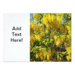 Flores amarillas hermosas de la lluvia de oro invitación 12,7 x 17,8 cm