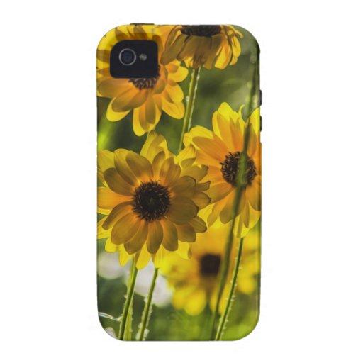 Flores amarillas iPhone 4/4S carcasa