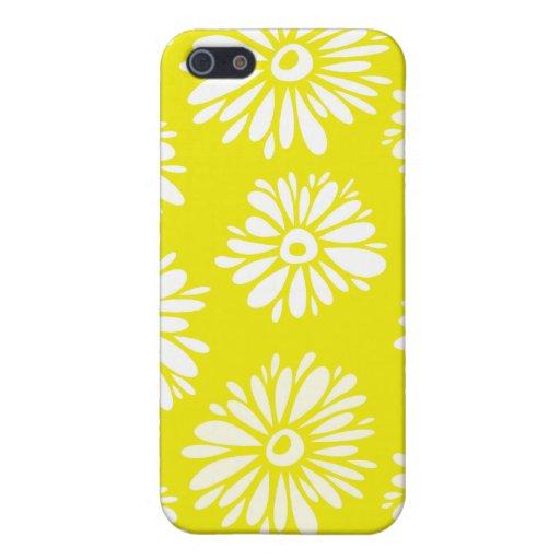 Flores amarillas iPhone 5 carcasas