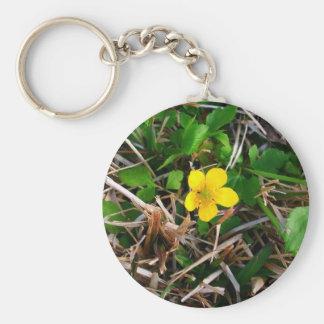 Flores amarillas llavero personalizado