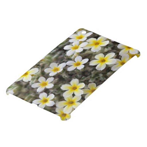 Flores amarillas minúsculas iPad mini funda
