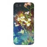 Flores amarillas minúsculas iPhone 5 protector