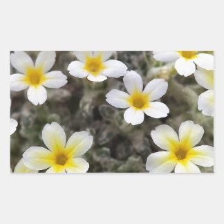 Flores amarillas minúsculas pegatinas