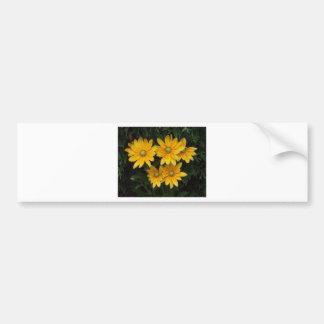 Flores amarillas pegatina para auto
