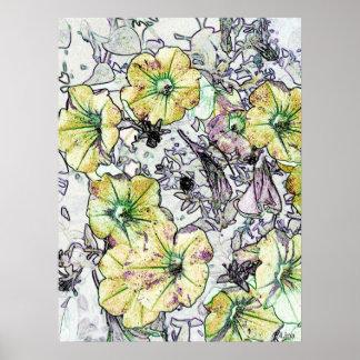 Flores amarillas salvajes de Lina 2013 Poster