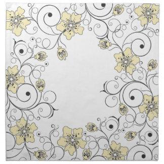 Flores amarillas - servilleta - 1