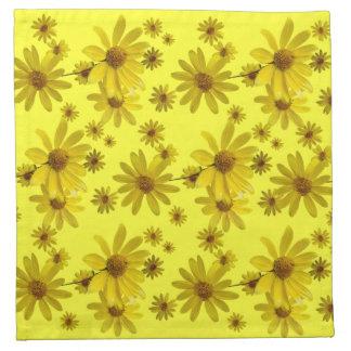 Flores amarillas servilleta de papel