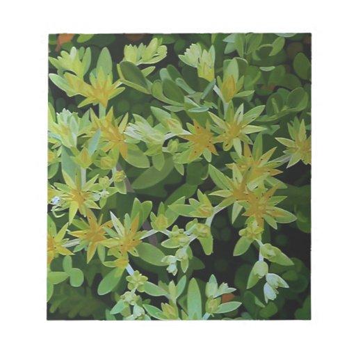 Flores amarillas sin título bloc de papel