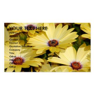 Flores amarillas tarjetas de visita