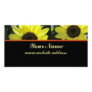 Flores amarillas tarjetas fotográficas