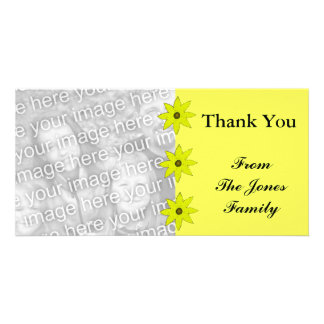 Flores amarillas tarjetas fotográficas personalizadas