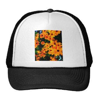 Flores amarillas y anaranjadas vibrantes hermosas gorra
