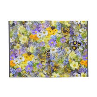 Flores amarillas y púrpuras de la primavera iPad mini carcasas