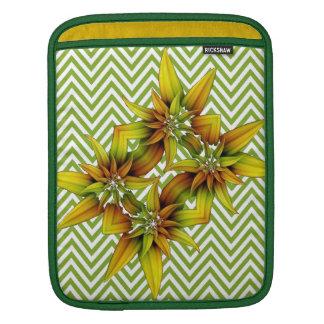 Flores amarillas y verdes mangas de iPad