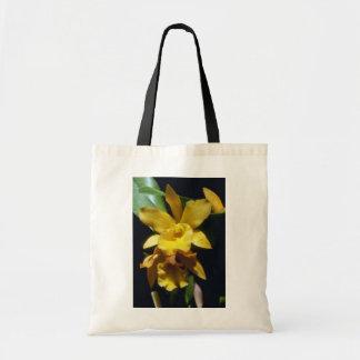 flores amarillo-naranja de la pepita Brassocattle Bolsas