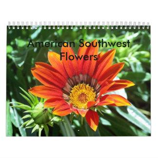 Flores americanas del sudoeste calendario de pared
