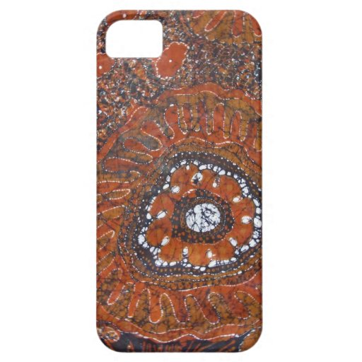 flores anaranjadas abstractas iPhone 5 Case-Mate cárcasas