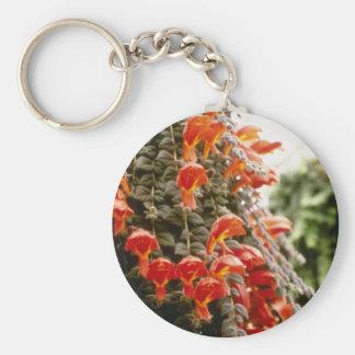 Flores anaranjadas de la planta del Goldfish de Co Llavero Redondo Tipo Pin
