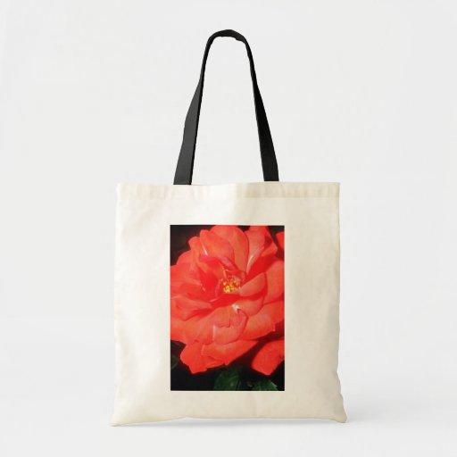 Flores anaranjadas de Rosa Bolsa De Mano