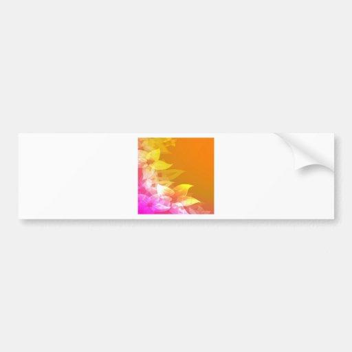 Flores anaranjadas/del amarillo del Hawaiian Etiqueta De Parachoque