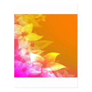 Flores anaranjadas/del amarillo del Hawaiian Postales